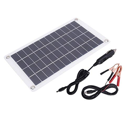 T best Solar Panel, 7.5W 12V Portable Stable Monocrystalline Silicon Solar Cell Panel Efficient Outdoor Solar Phone Charger for DIY Power Charger