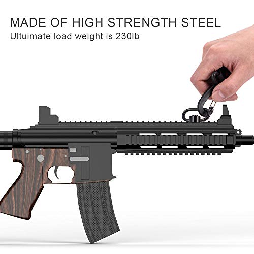"OTraki QD sling mount Rifle Swivels Mount 1.25"" Loop Heavy Duty Push Button QD keymod sling mount Adapter Quick Detach/Release for Picatinny/Weaver Airsoft Mounting Base Rail"