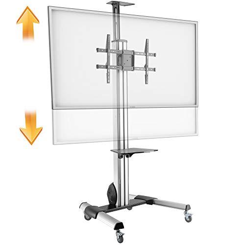RICOO FS0564, TV Boden-Ständer Rollbar Höhenverstellbar Auf Rollen, Universal 50-100 Zoll (127-254cm) Bildschirm Stand-Fuß Mobil, VESA 300x200-600x400