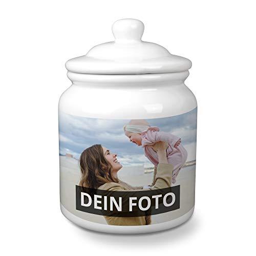 PhotoFancy® - Keramik-Keksdose mit Foto selbst gestalten - Keksdose mit eigenem Motiv personalisieren und bedrucken