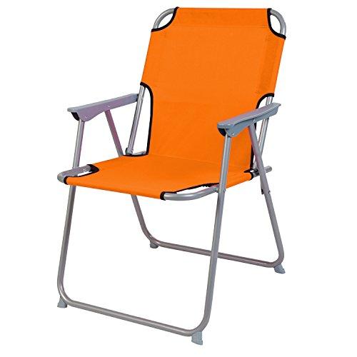 Praktisch und Gut. Campingstuhl Faltstuhl Stoff Orange Camping-Klappstuhl Anglerstuhl Regiestuhl Angelstuhl Metall
