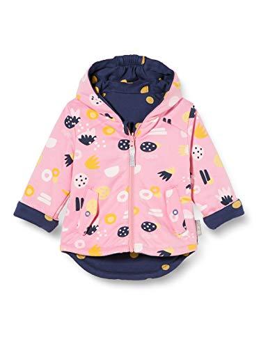 Sigikid Baby-Mädchen Wendejacke mit Kapuze aus Bio-Baumwolle, Größe 062-098 Jacke, Rosa/Blau, 86