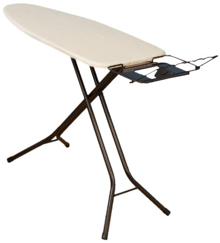 Household Essentials 974406-1 Extra Wide Top 4-Leg Large Ironing Board | Natural...
