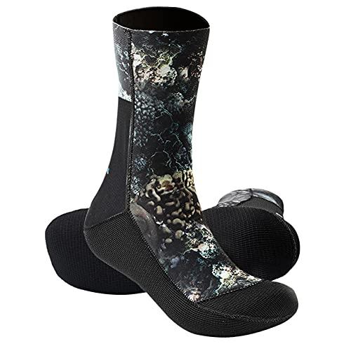 POOPFIY Calcetines de Buceo Hombres Mujeres 3mm Calcetines de Neopreno Botines, Zapatos de río al Aire Libre Antideslizante Vulcanizado de Neopreno Calcetines de Neopreno Botas,XXL