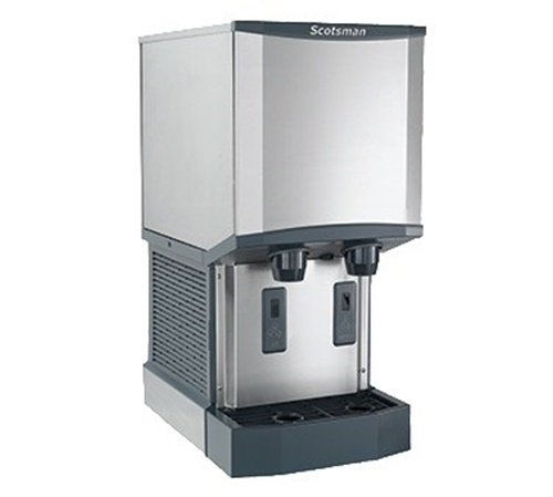 Scotsman HID312A-1 Meridian Nugget Ice & Water Dispenser, 12-Pound Capacity, Stainless Steel, 115-Volts, NSF