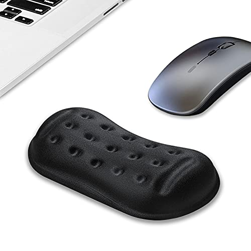 VANKEY Large Mouse Wrist Rest, Ergonomic Wrist Support, Mouse Wrist Cushion Wrist Guard for Computer, Laptop, Desktop - Memory Foam - Anti-Slip PU Base - Wrist Pain Relief (Black, Large)