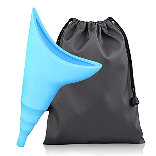 Hotype Urinario Portatil Mujer, Orinal Mujer Embudo De Silicona, Reutilizable Urinario Femenino para Mujeres De Pie para Orinar, para Actividades al Aire Libre, Camping, Viajes, Festivales, Azul