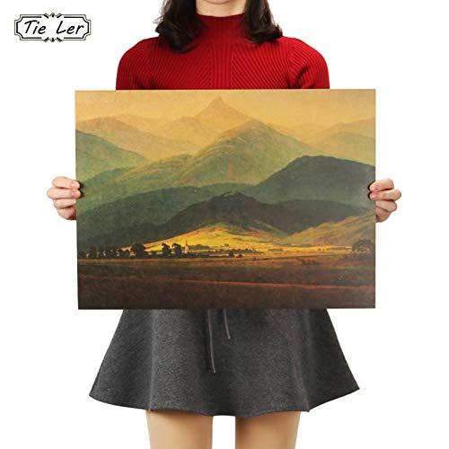 GSXDBD wandaufkleber Poster Gemälde David Ölgemälde Großdruck Kraftpapier Innendekoration Wandaufkleber