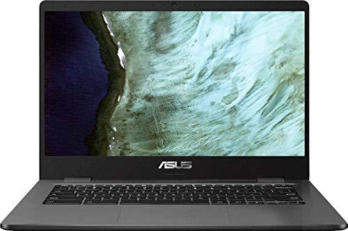 2020 Newest ASUS Chromebook Laptop, 14' HD LED-Backlit Screen, Intel Celeron N3350 Processor, 4GB Memory, 32GB eMMC SSD, Wi-Fi, Bluetooth, Webcam, Chrome OS   32GB Tela USB Card
