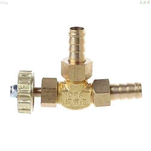 WUXUN-Ventil Elbow Messing Nadelventil 10mm Propan-Butan-Gas Teller Barbed Spigots 1 Mpa Messing Nadel (Specification : 8mm)