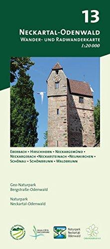 Blatt 13, Neckartal-Odenwald: Wander- und Radwanderkarte 1:20.000. Mit Eberbach, Hirschhorn, Neckargemünd, Neckargerach, Neckarsteinach, Neunkirchen, ... und Naturpark Neckartal-Odenwald)