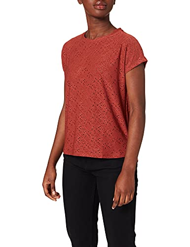 Only ONLSMILLA S/S Top JRS Noos Camiseta, Granate, M para Mujer