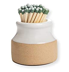Grab a match and make a strike! An innovative classy way to hold and light up your matches. No more ugly matchbooks or lighters lying around (works with strike anywhere matches only). A super cute decorative piece of pottery that is perfect to accomp...