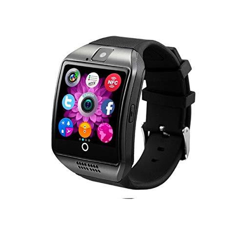 Bluetooth Smart Watch Männer und Kopfhörer Fitness Tracker Uhren Suppot TF SIM-Karte Kamera Armbanduhr,Schwarz und i7