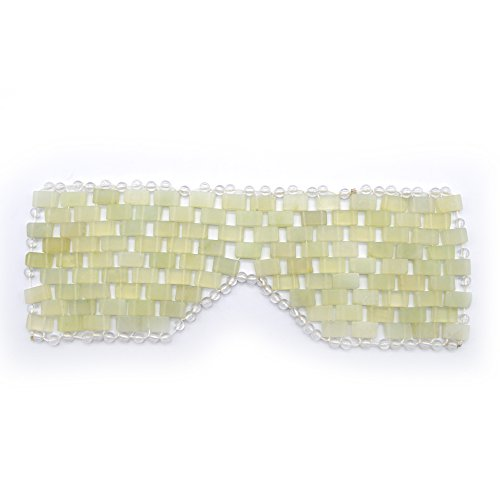 Natural Jade Sleep Mask & Blindfold,Natural Jade Eye Mask,Anti-Aging Hot or Cold Therapy Eye Mask Which is Soothing Cooling Detoxifying (Xiuyan Jade)