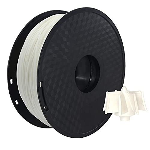 PLA Filament,PLA 3D Printer Filament 1.75mm Dimensional Accuracy +/- 0.02mm 1kg(2.2lbs) Spool, White (Color : White)