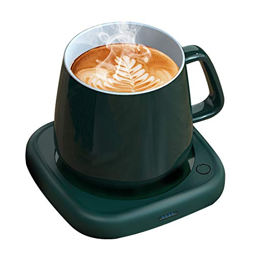 Coffee Mug Warmer Tea Cup Warmer Coffee Gifts for Desk Office Home Use, 8 Hrs Auto Shut-Off & 2 Temp Settings, Smart Plate Warmer for Coffee, Tea, Beverage, Milk, Hot Chocolate, Best Gift Idea(No Cup) (Green)