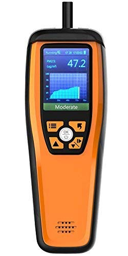 Monitor de CO2, Detector de CO2, Temtop M2000 Monitor de calidad del aire para PM2.5 PM10 Partículas HCHO Temperatura Humedad Audio Alarma