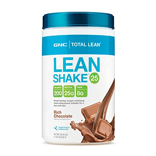 GNC Total Lean Rich Chocolate Shake 29.3 oz - 25 Grams of Protein