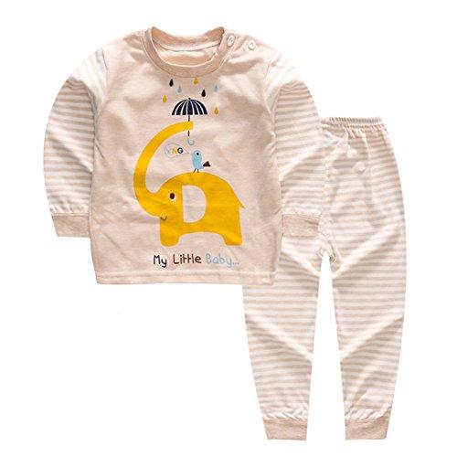 YANWANG 100% Baumwolle Baby Kinder Schlafanzüge Jungen Mädchen Pyjamas Set Langarm Nachtwäsche(Tag55/1-2 Jahre,Muster 5)