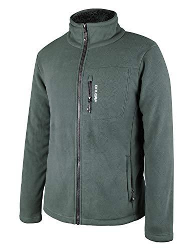 BALEAF Men's Full-Zip Polar Fleece Jacket Winter Coat Grey M
