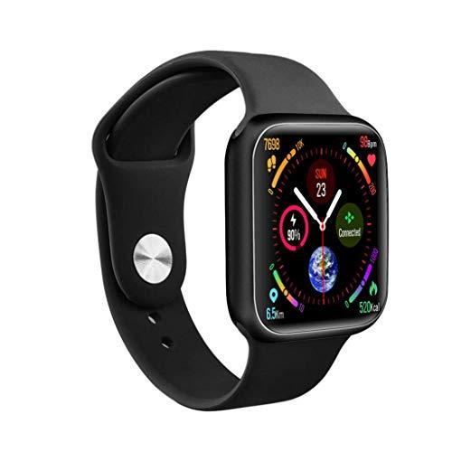 Gnaixyc Smartwatch, Reloj Inteligente, Pulsera Actividad Inteligente para Deporte, Reloj Iinteligente Hombre Mujer Niños, Reloj De Fitness con Podómetro Cronómetros,Negro