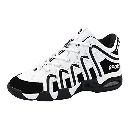 AIni Herren Unisex Schuhe,2019 Neuer Heißer Beiläufiges Mode Unisex Lace Up Mischfarben Casual Platform Sneakers Sportschuhe Partyschuhe Freizeitschuhe(43,Weiß)
