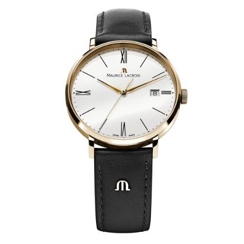 Maurice Lacroix Herren-Armbanduhr XL Eliros Analog Quarz Leder EL1087-PVP01-110