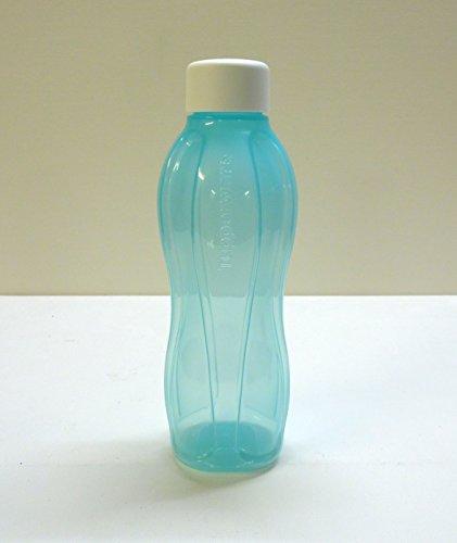 Tupperware Eco Botella 750ML Turquesa Botella ökoflasche Botella Rosca de Color Blanco