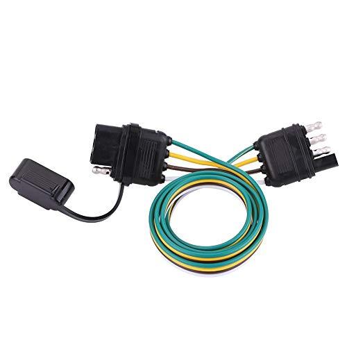 Belissy Adaptador de Conector de cableado del zócalo del Enchufe 6-24V 4...