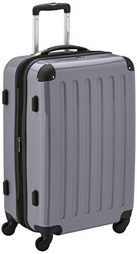 Hauptstadtkoffer Alex Trolley rígido con cierre TSA, 74 litros, 65 x 41 x 26 cm, Plateado