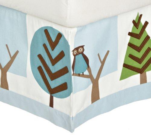 DwellStudio Patterned Canvas Crib Skirt, Owls Sky by DwellStudio (English Manual)