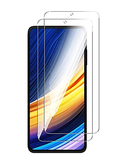 UNO' 2 Pack, Protector Pantalla Cristal Templado Compatible Con Xiaomi Poco X3 NFC/Poco X3 Pro, Vidrio Templado Ultra Resistent Sin Burbujas, 9h, Antiarañazos, Apto Para Poco X3 NFC/Poco X3 Pr