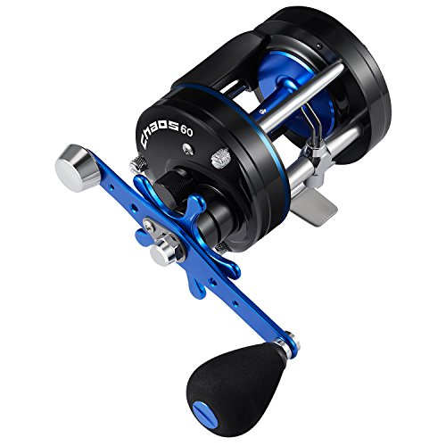 Piscifun Chaos Round Baitcasting Reel Reinforced Metal Body Baitcaster Conventional Saltwater Fishing Reels (60 Right Handed)