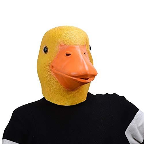 YLJYJ Ente Maske, Latex Gummi Humoristisch Lustig Gesicht Kopfmaske für Halloween Weihnachten Kostüm Dekoration Party Maskerade