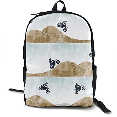 Lightweight Polyester Daypack Motocross Dirt Bike Reisen Hiking Bag & Day Pack - Big Capacity Anti-Diebstahl Mehrzweck-Rucksack for Boys Girls