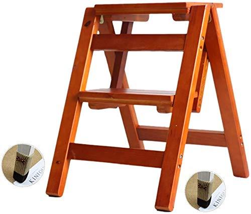 BBG Einfach Und Multifunktions Praktische Klapptrittschemel, 2 Ladder Holz Mit Non-Slip-Fußmatte, Schritt Treppen Leiter Für Kinderbett Treppe Erwachsene Tiere, Bis Zu 100 Kg (Farbe: Style-1),Style-3