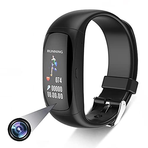 Cámara Oculta Reloj Inteligente, 1080p Smartwatch Spy Camera, Bluetooth Pantalla Táctil Espía Reloj, Grabación de Vídeo, Cámaras de Vigilancia Pulsómetro Reloj Deportivo Compatible Android iOS 32GB