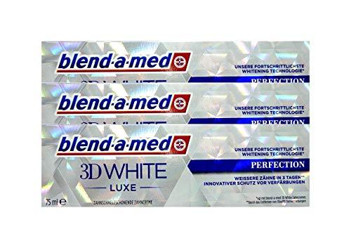 3x BLEND A MED 3D WHITE LUXE PERFEKTION 75ml Zahnschmelzschonende Zahncreme