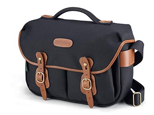 Billingham Hadley Pro Shoulder Bag (Black with Tan Leather Trim)