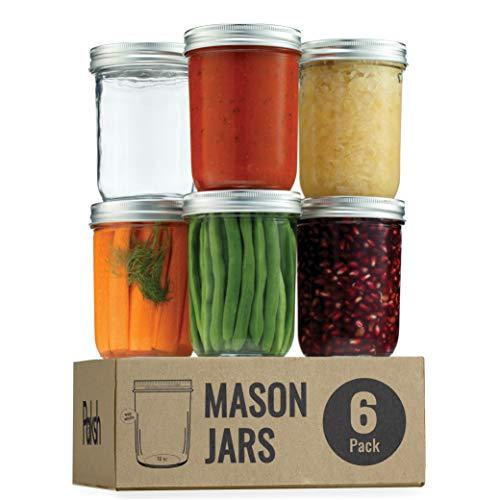 Wide Mouth Glass Mason Jars