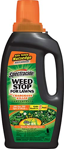 Spectracide 511072 Weed Stop for Lawns + Crabgrass Killer Concentrate, 32-Oz