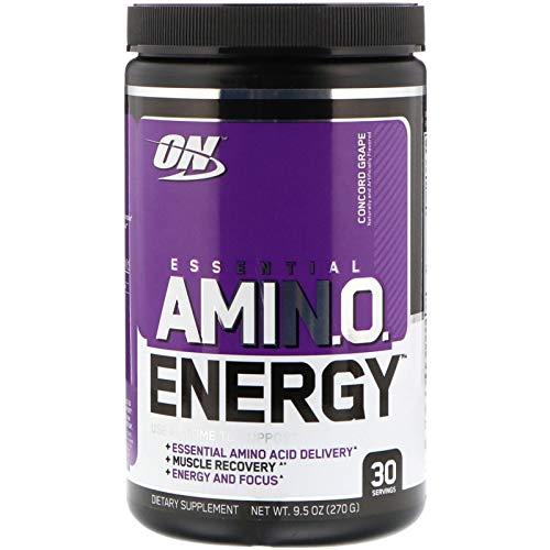 Optimum Nutrition, (2 Pack) Essential Amin.O. Energy, Concord Grape, 9.5 oz (270 g)