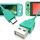 USB C Charger for Nintendo Switch, Fast Charging Cable for Nintendo Switch, MacBook, Pixel C, LG Nexus 5X G5, Nexus 6P/P9 Plus, One Plus 2, Sony XZ and More - Animal Crossing Green (4.92ft)