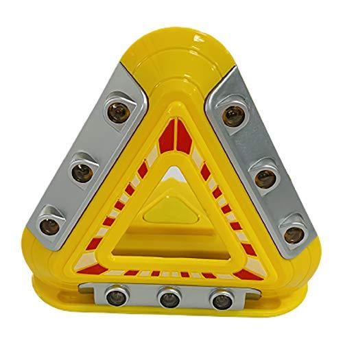 XLanY Triángulo De Emergencia Intermitente, Luces De Peligro En La Carretera, Luces De Advertencia LED, Luz De Trabajo De Seguridad Reflectante Confiable Y Duradera para El Kit De Herramientas