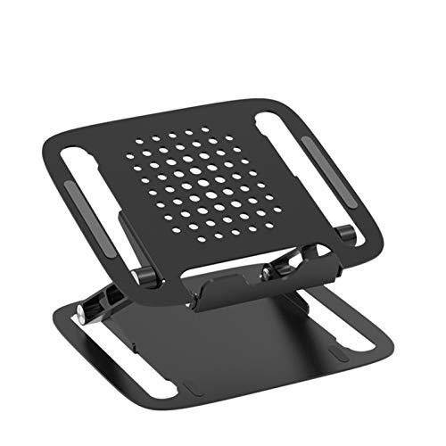 KJGHJ Soporte para Computadora Portátil De Aluminio Ajustable De Altura con Función De Enfriamiento Portátil para Todas Las Computadoras Portátiles MacBook 11-17 Pulgadas Portátil (Color : T1 Black)