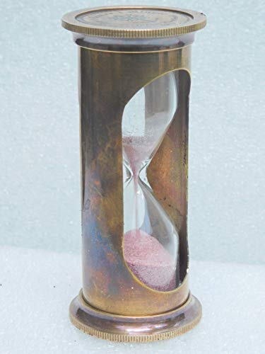 1 min Brass Sand Timer Nautical Vintage Antique Item Replica Hour Glass Maritime Item