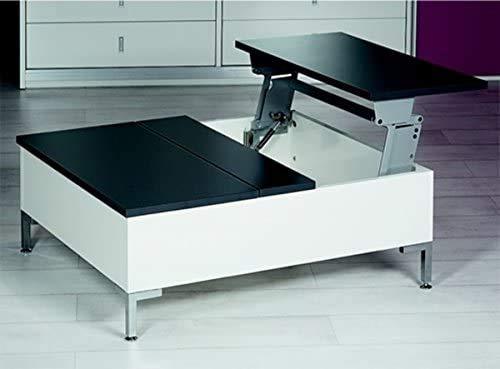 Levante la mesa de techo, sala de estar, trastero, muebles de madera y homenaje fuerte para recibir, dispositivo plegable de mesa,BlackWhite