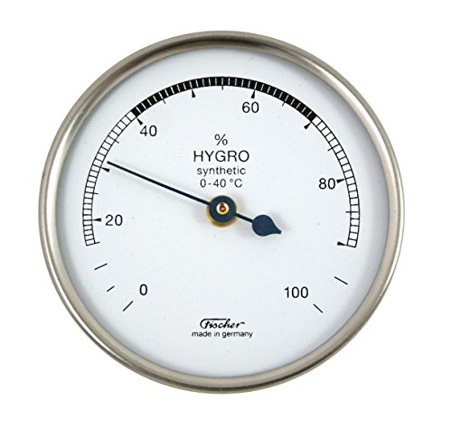 Hygrometer synthetic von Fischer, 68mm - Life-Design, Artikel 150CR, Made in Germany