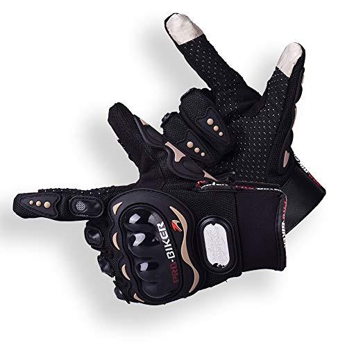 Ritte Motorrad handschuhe Herren, Wasserdichte Touchscreen-Handschuhe Sport Leder Motorrad Winterhandschuhe Für Motorradfahren Handschuhe Motorrad Radfahren Camping Outdoor-Einsatzi, Schwarz (XL)